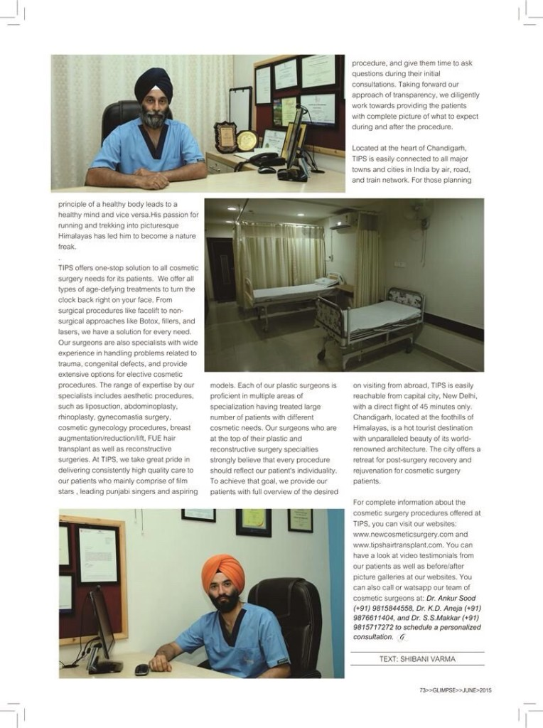 TIPS Facility provides cosmetic surgery in Chandigarh