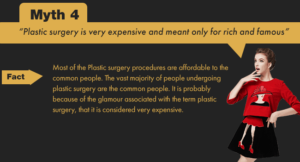 Plastic surgery is affordable to common people.